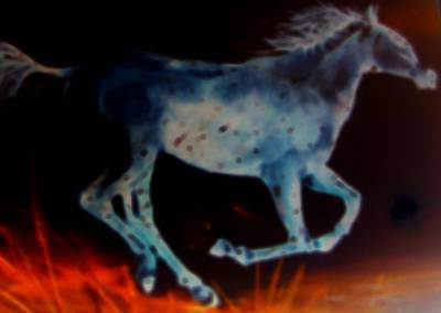 Painting - Ghost Horse by Al Pascucci