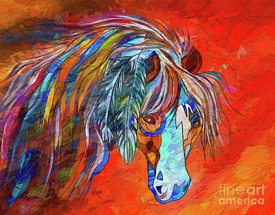 Painting - Ghost Horse Mixed Media Painting by Janice Rae Pariza