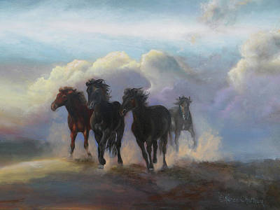 Painting - Ghost Horses by Karen Kennedy Chatham