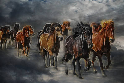 Digital Art - Ghost Horses by Lisa Yount