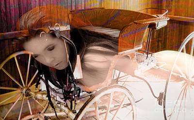 Photograph - Ghost In The Carriage House by Clayton Bruster