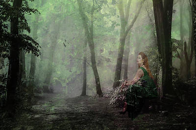 Digital Art - Ghost In The Garden  by Diane Schuster
