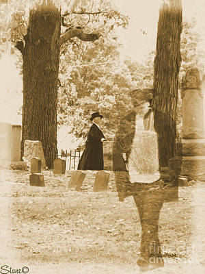 Photograph - Ghost In The Graveyard by September  Stone