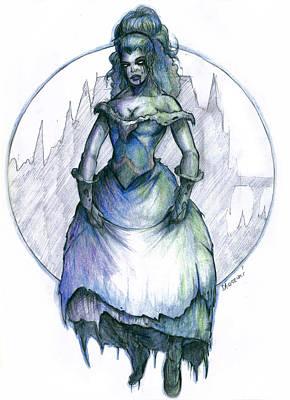 Painting - Ghost Lady by Bartek Blaszczec