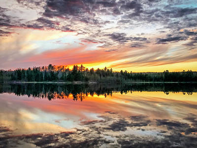 Smores Photograph - Ghost Lake Sunset by Todd Reese