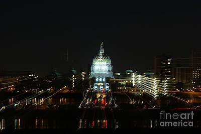 Ghost Lights Of Pa State Capital   # Art Print