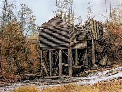 Photograph - Ghost Mill On Chinquapin Creek South Carolina by Bellesouth Studio
