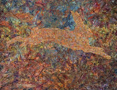 Expressionist Painting - Ghost Of A Rabbit by James W Johnson