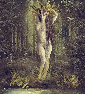 Digital Art - Ghost Of Fern Forest by Ali Oppy
