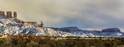 Photograph - Ghost Ranch In Winter by Lou  Novick