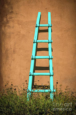 Photograph - Ghost Ranch Ladder by Inge Johnsson