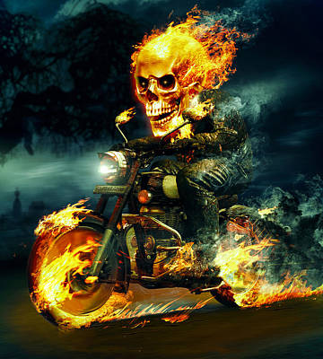 Photograph - Ghost Rider by Daniel Sinoca