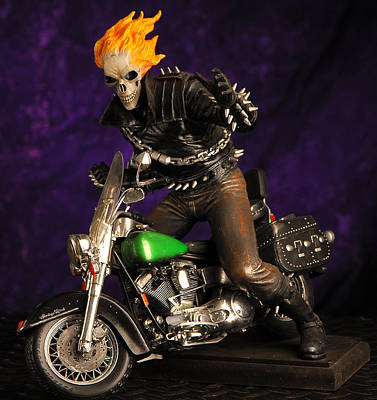 Collectables Mixed Media - Ghost Rider Model  by Craig Incardone