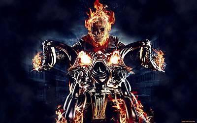 Design Digital Art - Ghost Rider by Super Lovely