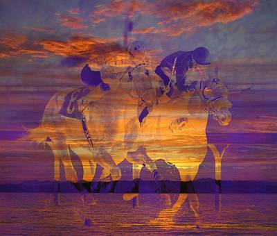 Ghost Riders Photograph - Ghost Riders At Sunset by Lori Seaman