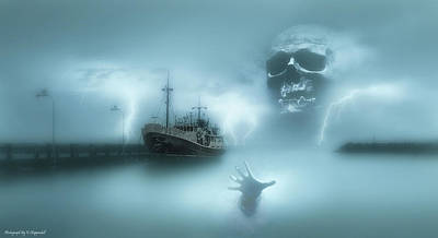 Photograph - Ghost Ship 0002 by Kevin Chippindall