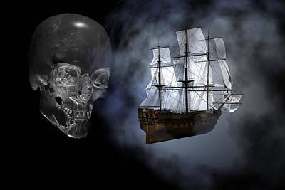 Ghost Ship Art Print by Claude McCoy