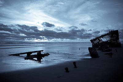 Beach Photograph - Ghost Ship by Jennifer  Owen