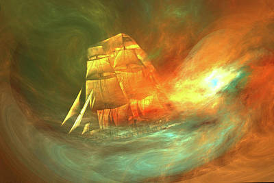 Digital Art - Ghost Ship by Lisa Yount