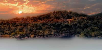 Photograph - Ghost Ship Of Isla Roatan - Mahogany Bay Shipwreck - Honduras by Jason Politte