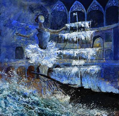 Ballet Dancers Painting - Ghost Ship by Pol Ledent