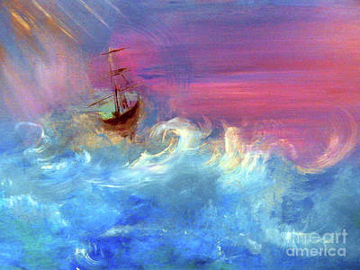 Ghost Ship Painting - Ghost Ship Replay by Lisa Kaiser