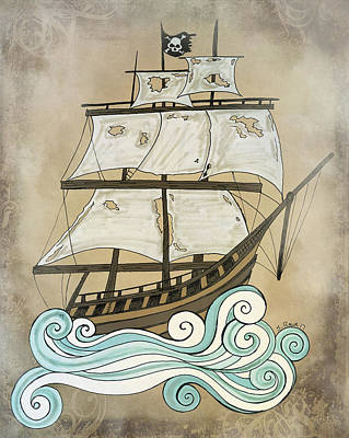 Drawing - Ghost Ship by Shawna Rowe