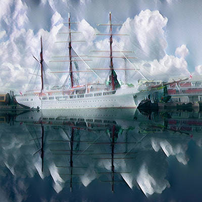 Photograph - Ghost Ship The Sea Cloud by Debra and Dave Vanderlaan