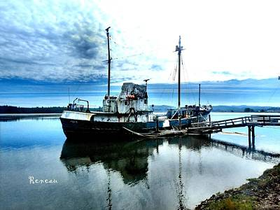 Photograph - Ghost Ship Trawler - 2 by Sadie Reneau