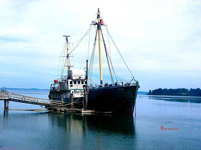 Photograph - Ghost Ship - Trawler by Sadie Reneau