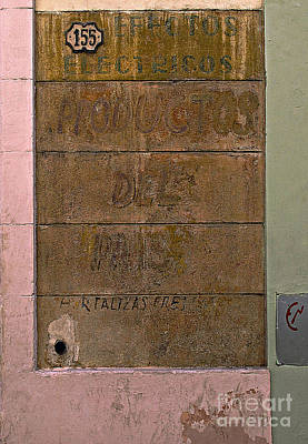 Photograph - Ghost Sign At No. 155 by Ethna Gillespie