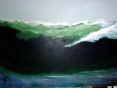 Ghost Surfer Art Print
