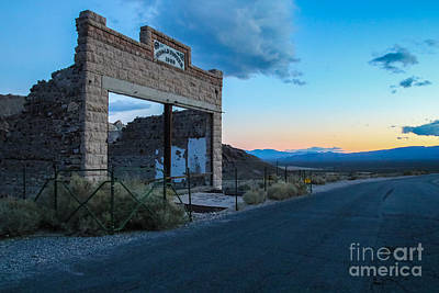 Photograph - Ghost Town At Sundown by Suzanne Luft