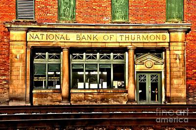 Thurmond Wall Art - Photograph - Ghost Town Bank by Adam Jewell