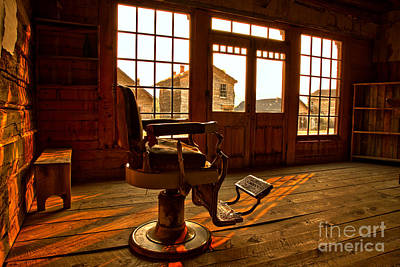 Photograph - Ghost Town Barber Chair by Adam Jewell