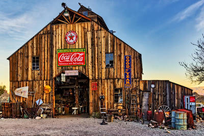 Ghost Town Barn Art Print by Susan Candelario