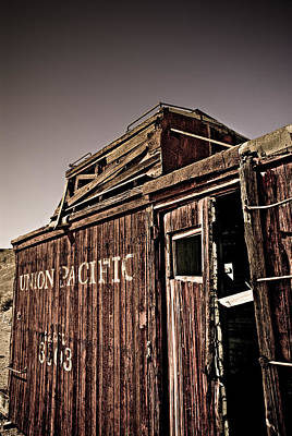 Ghost Town Caboose Art Print by Patrick  Flynn