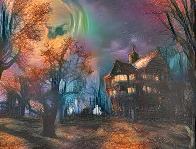 Haunted House Digital Art - Ghost Town by Mystary Records