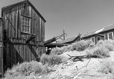 Photograph - Ghost Town Of Bodie California Dsc4441bw by Wingsdomain Art and Photography