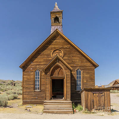 Ghost Town Of Bodie California Methodist Church Dsc4473sq Art Print by Wingsdomain Art and Photography