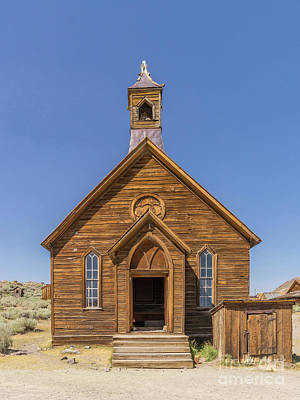Ghost Town Of Bodie California Methodist Church Dsc4474 Art Print by Wingsdomain Art and Photography