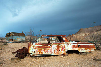 Art Print featuring the photograph Ghost Town Old Car by Catherine Lau