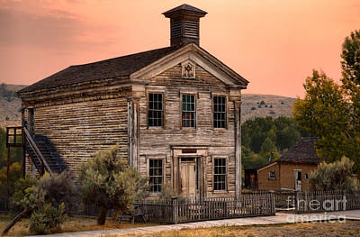 Bannack State Park Photograph - Ghost Town School House by Adam Jewell