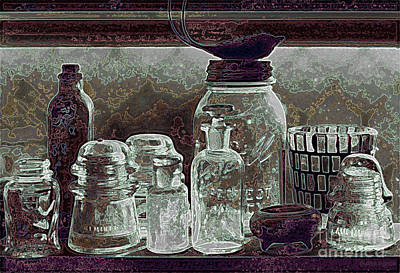 Photograph - ghost town still life - Glass Ware IV by Sharon Hudson