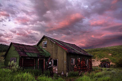 Photograph - Ghost Town Sunset 1 by Dave Dilli