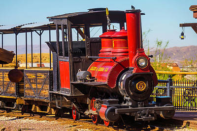 Narrow Gauge Engine Photograph - Ghost Town Train by Garry Gay