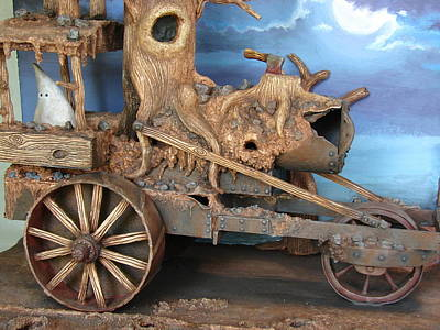 Sculpey Sculpture - Ghost Tractor-closeup View by Stuart Swartz