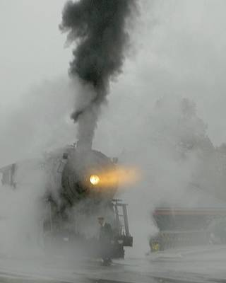 Photograph - Ghost Train In The Mist by Carolyn Jacob