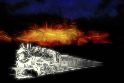 Digital Art - Ghost Train by John Haldane