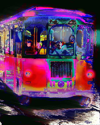 Digital Art - Ghost Trolley  by Expressionistart studio Priscilla Batzell